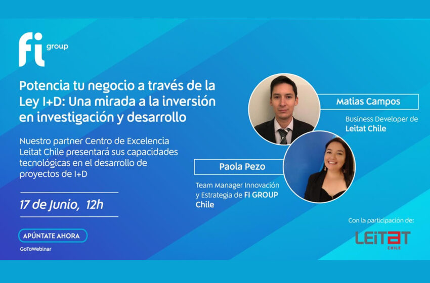 Webinar LEITAT Chile y FI Group; Ley I+D