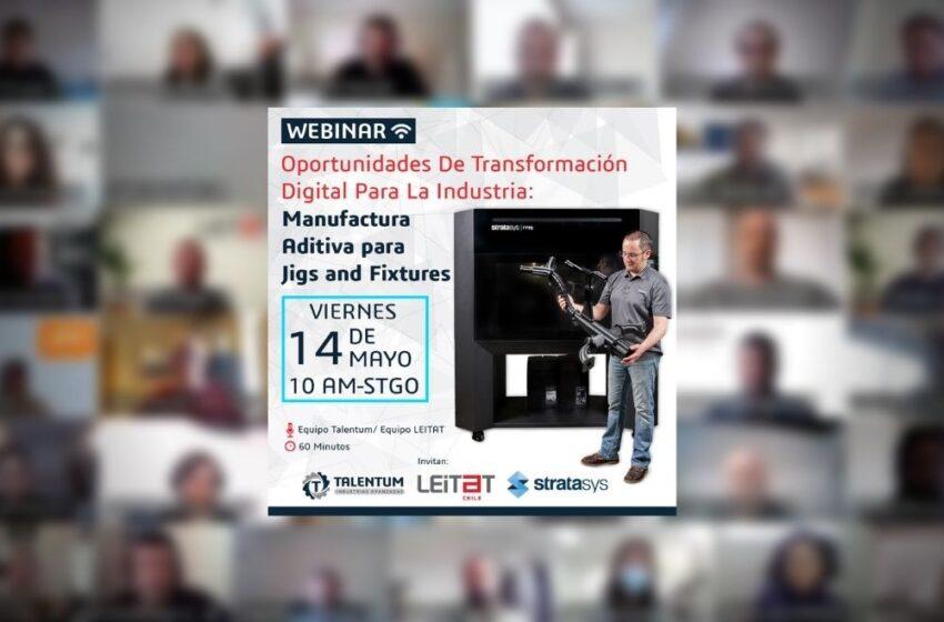 Webinar: Manufactura Aditiva para jibs and fixtures
